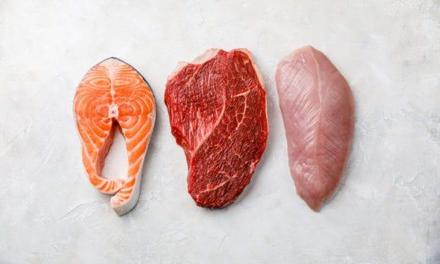 Fleisch und Fisch